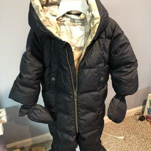 Burberry Navy Snowsuit - 12 month